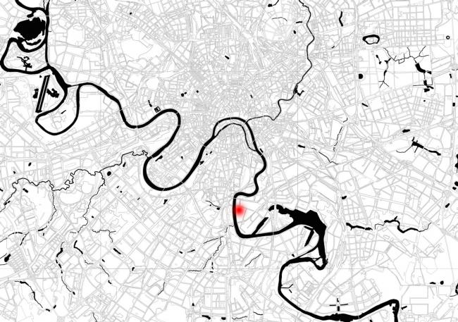 Жилой комплекс «Полуостров Зил». Ситуационный план © Сергей Скуратов ARCHITECTS