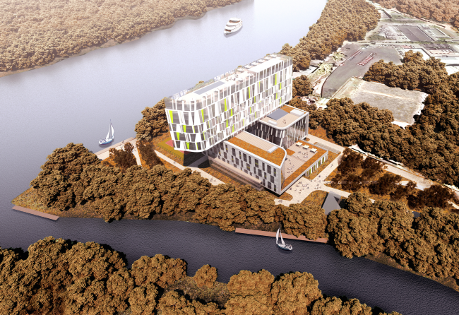 Гостиничный комплекс RADISSON BLU MOSCOW RIVERSIDE HOTEL&SPA © Архитектурное бюро Асадова; ГрандПроектСити; МАХПИ