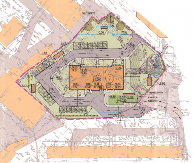 Жилой дом «Клевер». Генеральный план © Архитектурное бюро «А.Лен»