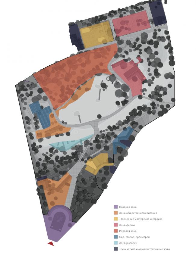 Городская ферма на ВДНХ. Схема