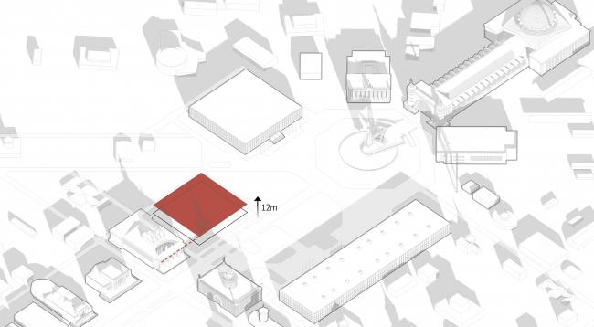Павильон «Росатома» на ВДНХ. Высотные показатели © UNK project