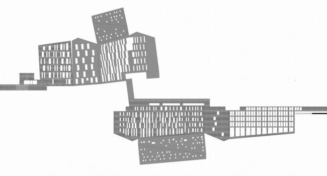 Жилой Комплекс «Арт хаус». Развертка © Сергей Скуратов ARCHITECTS