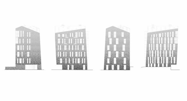 Жилой Комплекс «Арт хаус». Фасады © Сергей Скуратов ARCHITECTS
