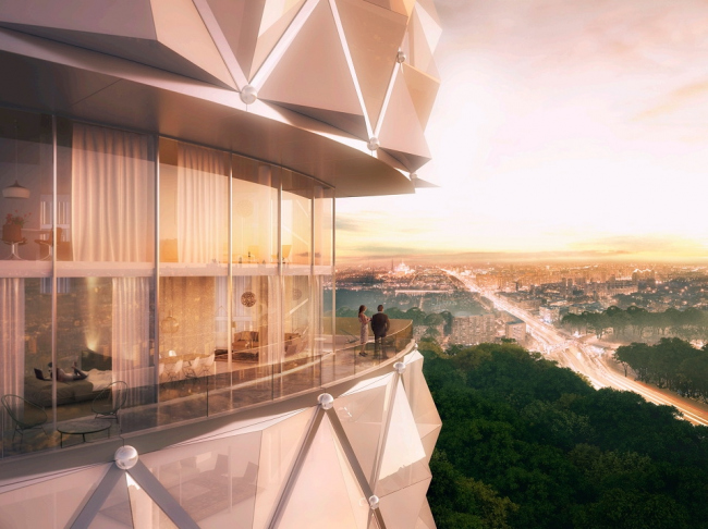 Башня на территории бывшего завода ЗИЛ © Neutelings Riedijk Architecten icw Project Meganom