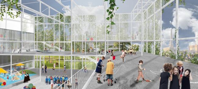 Школа в районе Ауде-Доккен © Xaveer De Geyter Architects