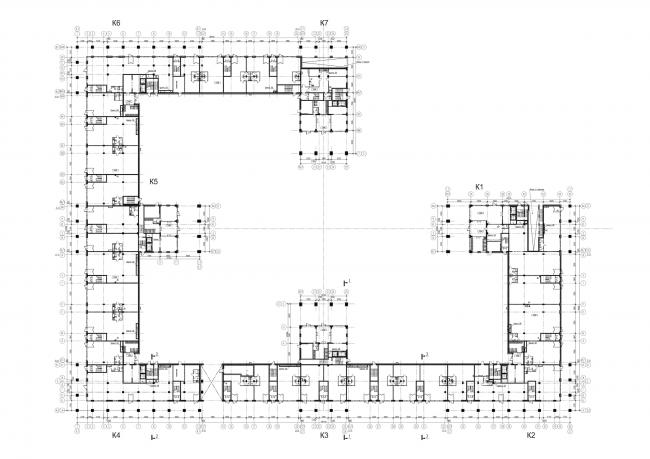 Жилой комплекс «LEGENDA на Дальневосточном, 12». План -1 этажа. Проект, 2015 © Евгений Герасимов и партнеры