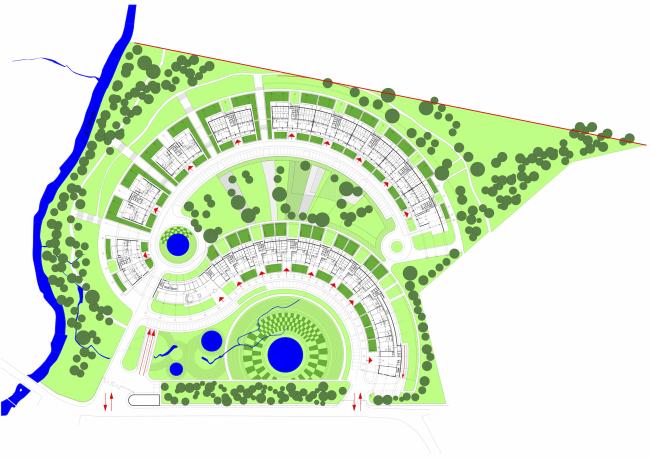 «Сколково-парк». Генеральный план, 2010 © ТПО «Резерв»