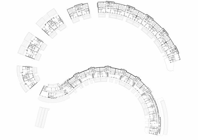 «Сколково-парк». План 1 этажа, 2010 © ТПО «Резерв»