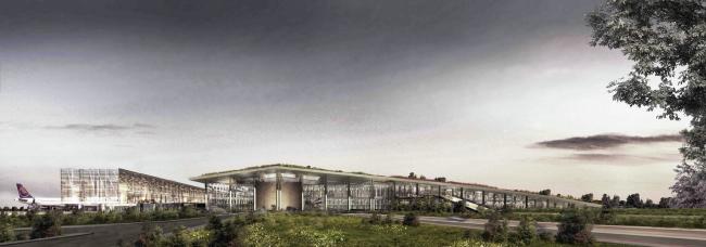Международный аэропорт Чукурова (Турция).  Emre Arolat Architects. Изображение предоставлено WAF