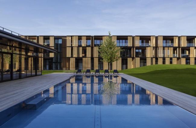 Отель Lanserhof, озеро Тегерн (Германия). Ingenhoven Architects. Изображение предоставлено WAF