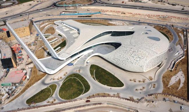 Катарский факультет исламоведения и мечеть «Города образования».  Mangera Yvars Architects. Изображение предоставлено WAF