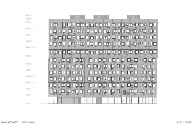 Жилой комплекс в районе Шугар-Хилл © Adjaye Associates