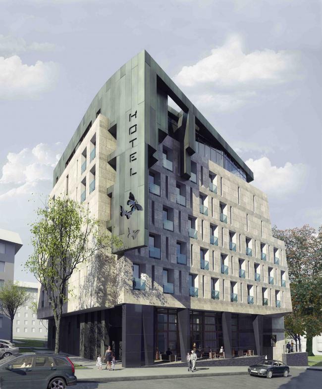 Гостиничный комплекс Butterfly. Общий вид © Архитектурное бюро «Богачкин и Богачкин»
