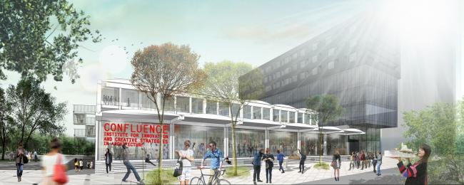 Архитектурная школа Confluence, арх. Одиль Декк © Odile Decq Benoît Cornette