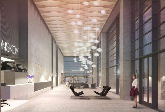 Многофункциональный жилой комплекс в 5-ом Донском проезде. Интерьер. Проект, 2015 © Архитектурная мастерская «Группа АБВ»