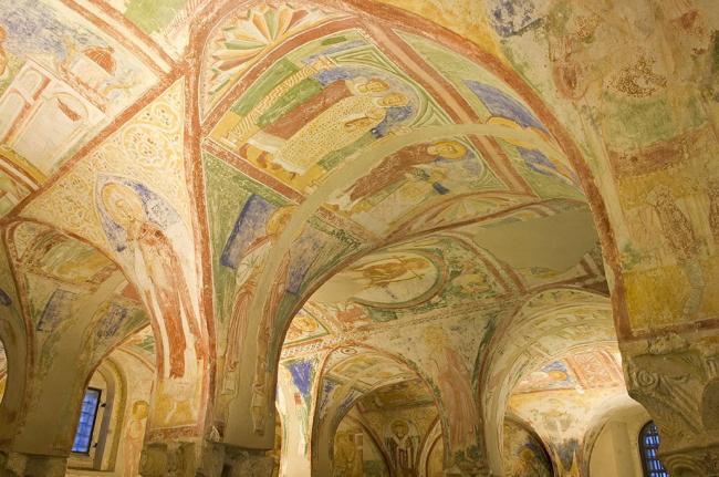 Крипта патриаршей базилики в Аквилее. IX в. Фрески – XII в. © Gianluca Baronchelli