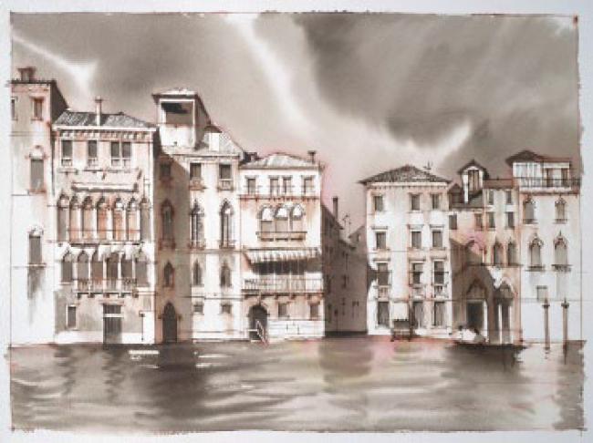 Рисунок Сергея Чобана. Венеция © SPEECH