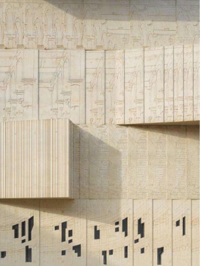 Музей архитектурного рисунка в Берлине. Фрагмент фасада © SPEECH