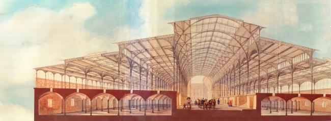 Крытый рынок, Фридрихштадт, Берлин. Проект: Ф. Хитциг. 1865-67