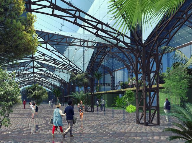 Предложение Проектного бюро «ДА» по реконструкции павильонов на Стрелке под универсальное общественное пространство
