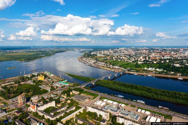 Вид нижегородской Стрелки. Фото © Gelio | Слава Степанов  gelio.livejournal.com