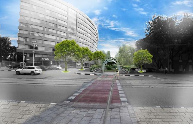 Визуализация Крошечного бульвара со стороны ул. Волочаевская © Команда 123