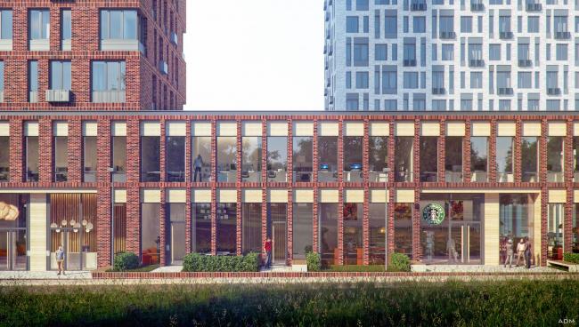 Многофункциональное здание с жилыми и нежилыми помещениями на шоссе Энтузиастов. Детский сад. Проект, 2015 © ADM