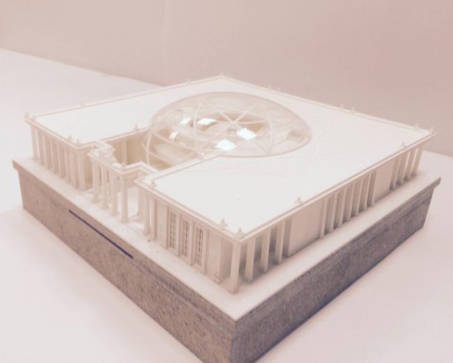Макет павильона атомной энергии на ВДНХ © «Евгений Герасимов и партнеры»