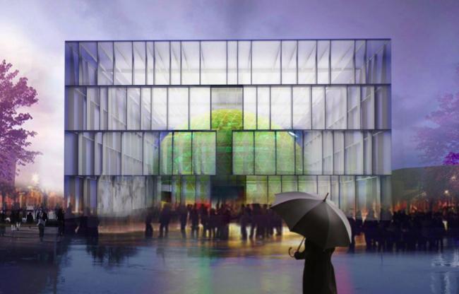Концепция павильона атомной энергии на ВДНХ © «Итал Инжиниринг Интернешнл», Archea Assotiati, Zanetti Design