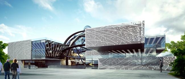 Концепция павильона атомной энергии на ВДНХ © «Моспроект», А+А, Cardin Ramirez Julien Inc.
