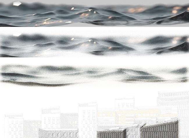 """Концепция комплексной общественно-жилой застройки на Васильевском острове. А.Лен. Изображение предоставлено """"Glorax Development"""""""