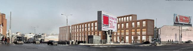 Многофункциональный комплекс на ул. Земляной Вал. Фотомонтаж. Проект, 2014 © Гинзбург Архитектс