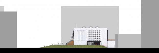 Первое место в номинации «Лучшая концепция редевелопмента кинотеатра «Восход» © Российско-голландское бюро SVESMI