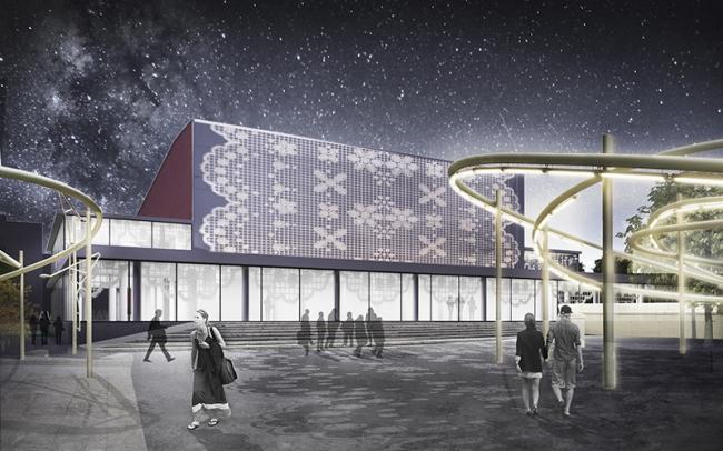 Первое место в номинации «Лучшая концепция редевелопмента кинотеатра «Варшава» © Консорциум Спектрум + EMBT + А2ОМ