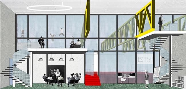 Проект редевелопмента кинотеатра «Восход» ©  Консорциум: Спектрум + EMBT + А2ОМ