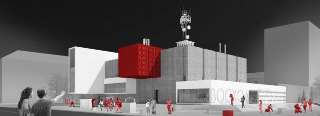 Проект редевелопмента кинотеатра «Восход» © «Студия 44»