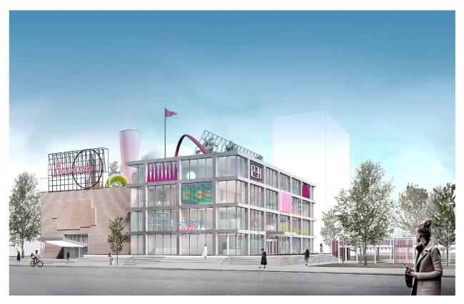 Проект редевелопмента кинотеатра «Восход» © Консорциум: Nowadays office/Aventica