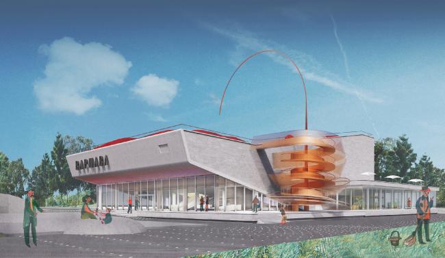 Проект редевелопмента кинотеатра «Варшава» © Консорциум: Nowadays office/Aventica