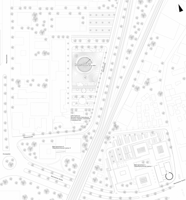 Учебно-исследовательский центр «Газгольдер». Генеральный план. Проект, 2011-2013 © db-arch studio