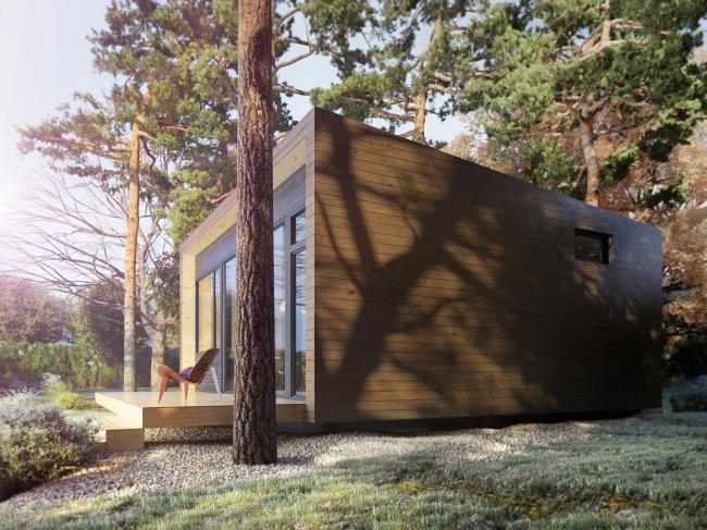 Серия домов «Дом-ковчег». Ковчег-4 (4 модуля). Постройка, 2015 © АрхПроект-3