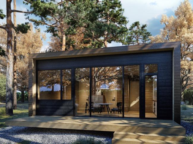 Серия домов «Дом-ковчег». Ковчег-3 (3 модуля). Постройка, 2015 © АрхПроект-3