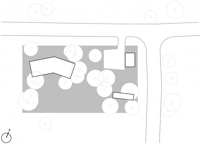 Серия домов «Дом-ковчег». Ситуационный план. Постройка, 2015 © АрхПроект-3