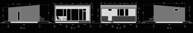 Серия домов «Дом-ковчег». Ковчег-3 и Ковчег-4. Фасады, 2015 © АрхПроект-3