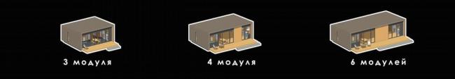 Серия домов «Дом-ковчег». Аксонометрии, модули, 2015 © АрхПроект-3