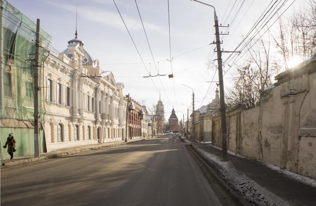 Концепция обновления общественных пространств в Туле. Улица Металлистов. Существующее положение. Проект, 2015 © Четвертое измерение