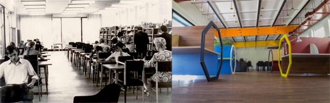 Слева: «Блохинка», архивная фотография; справа современная фотография. Предоставлено ПАНАКОМ