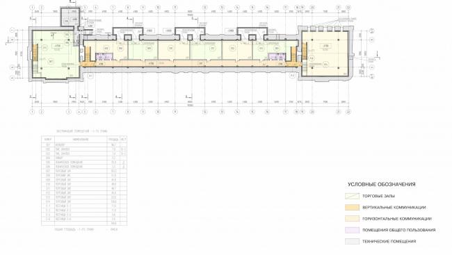 Арма: корпус 2. План -1 этажа © Сергей Киселёв и Партнёры