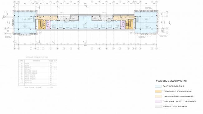 Арма: корпус 2. План 3 этажа © Сергей Киселёв и Партнёры