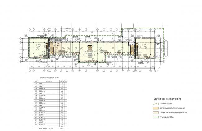 Арма: корпуса 1. План 1 этажа © Сергей Киселёв и Партнёры