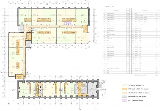 Арма: корпуса 4, 5, 5а. План -1 этажа © Сергей Киселев и Партнеры